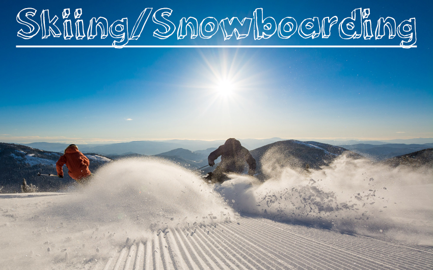 Skiing and Snowboarding at local Okanagan ski resort, Apex Mountain, located near Penticton, British Columbia, Canada