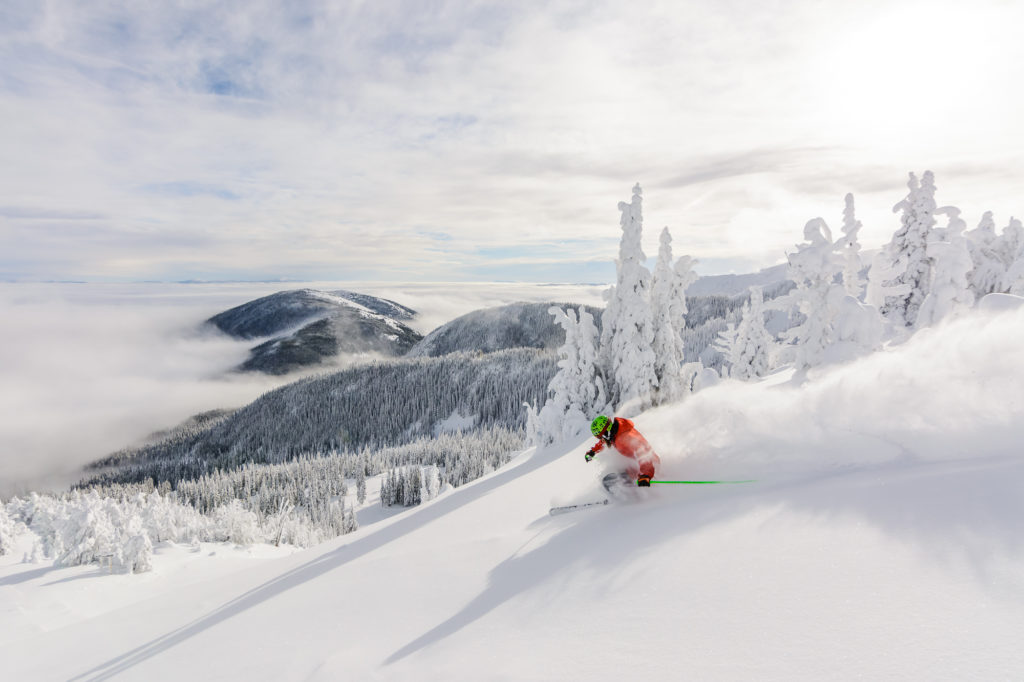 Skiing powder on a sunny day above the clouds. There is so much about Apex Mountain Resort