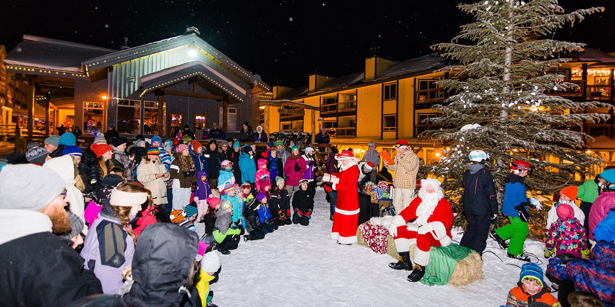 celebrations like our new years eve fireworks spectacular and the annual gunbarrel saloon party with live music make holiday time in the mountains a thing - Christmas Mountain Resort